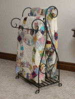 Wrought Iron 2-Piece Quilt Rack